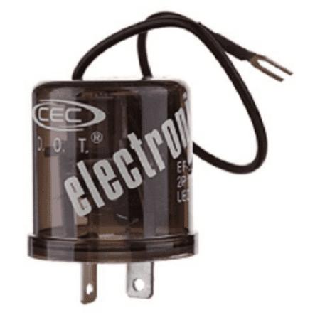2 Prong Electronic LED Compatible Turn Signal Flasher Relay EF32RL Round 25