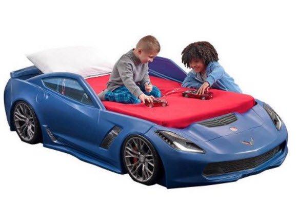 corvette toddler to twin car bed blue walmart com