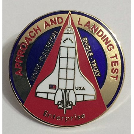 New Nasa Space Shuttle Program Approach and Landing Mission Lapel Pin Enterprise Space Shuttle Mission Pin