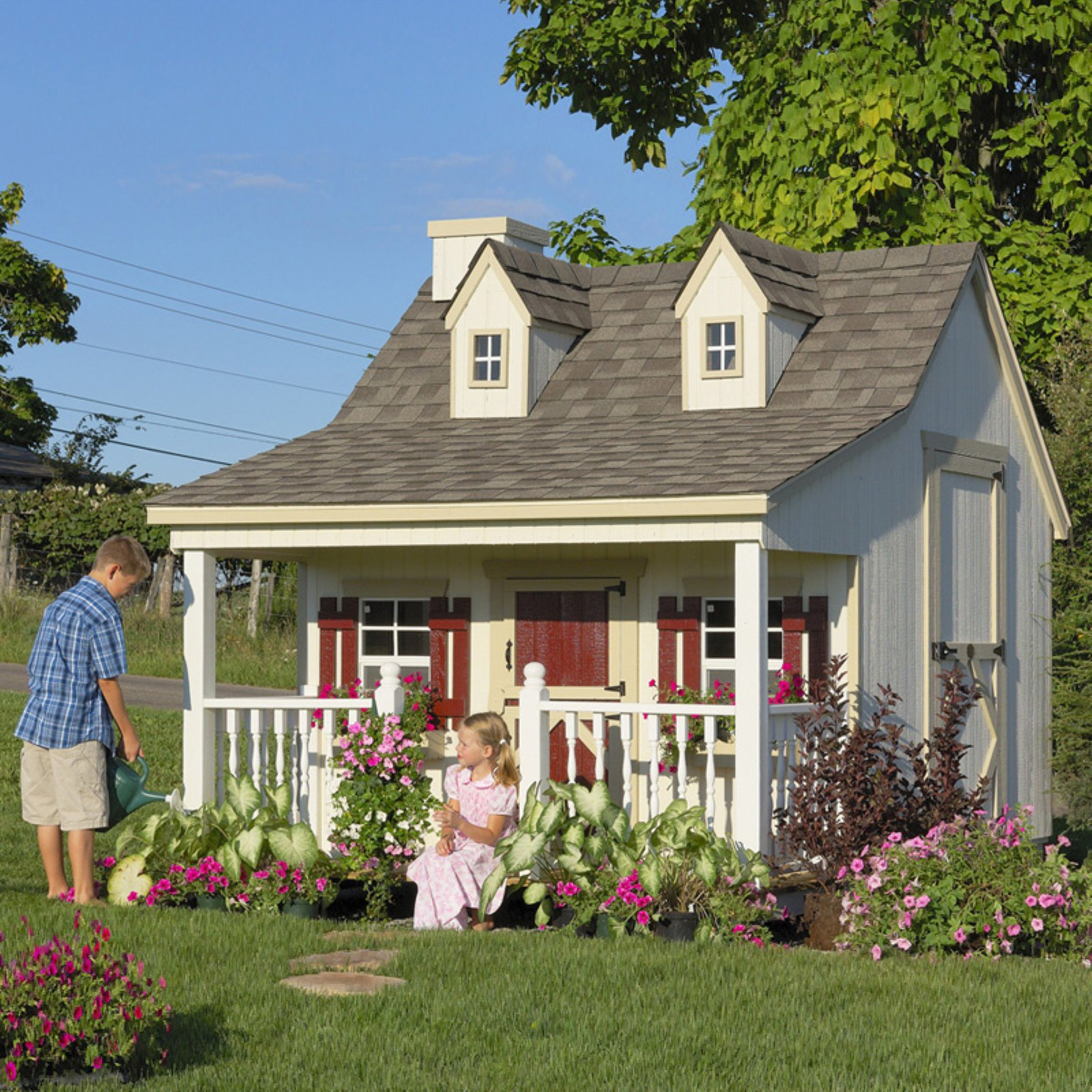 Little Cottage Pennfield Cottage 11 x 8 ft. Wood Playhouse by Little Cottage Company
