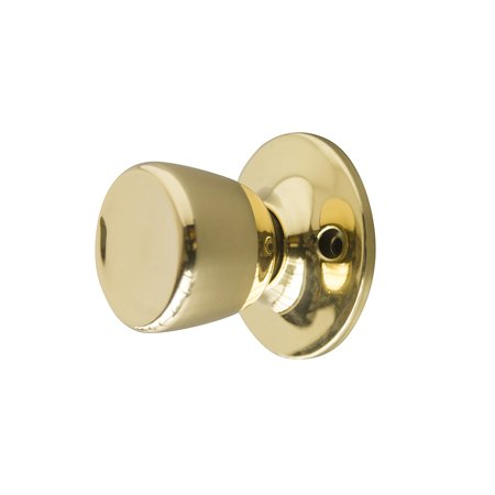 Handle Polish (Design House 728287 Terrace Reversible Dummy Door Knob, Polished Brass)