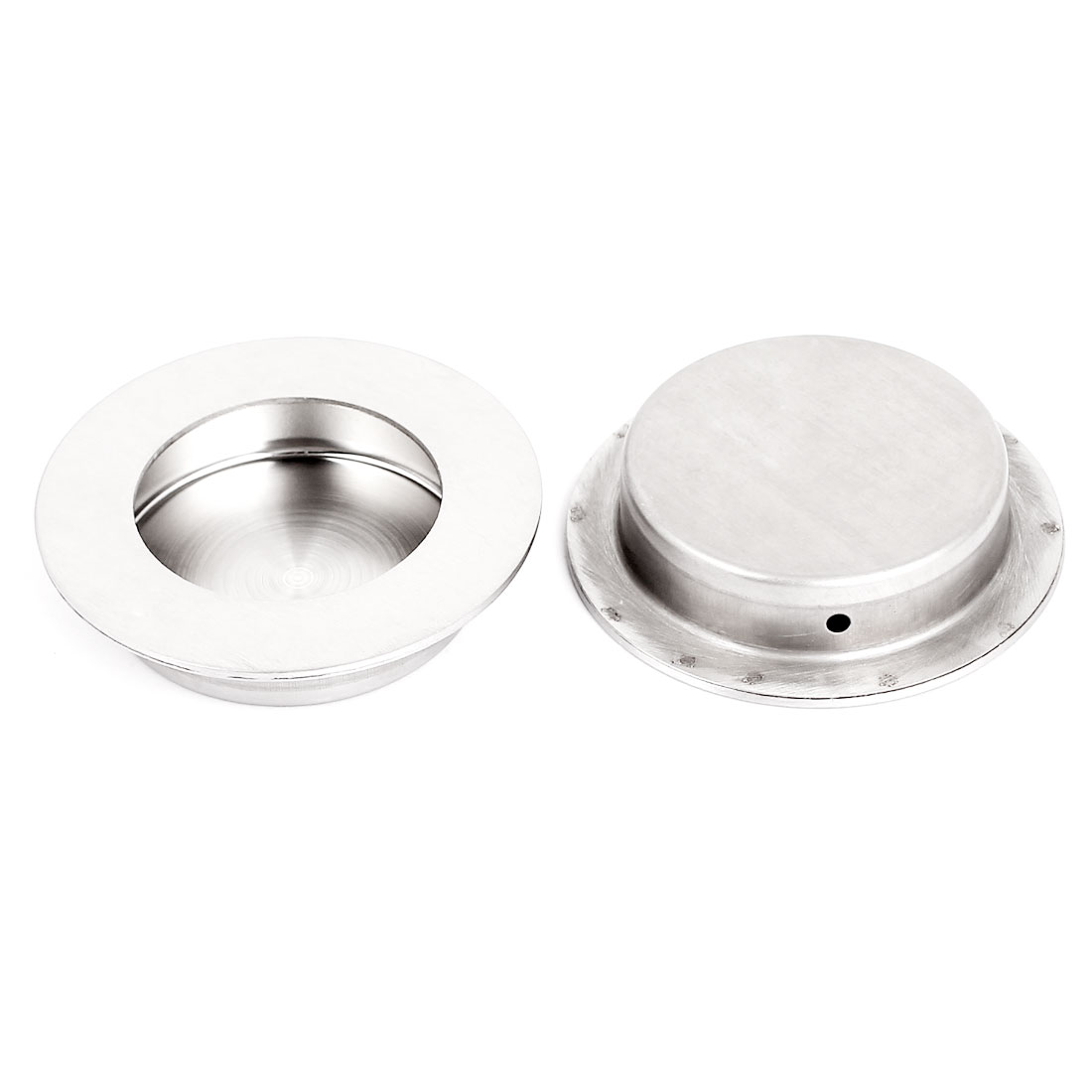 Sliding Door Drawer Stainless Steel 65mm Round Recessed