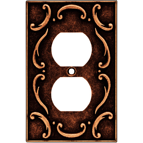 Brainerd French Lace Single Duplex Wall Plate, Available in Multiple Colors