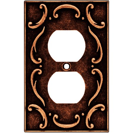 Brainerd French Lace Single Duplex Wall Plate Available In Multiple Colors
