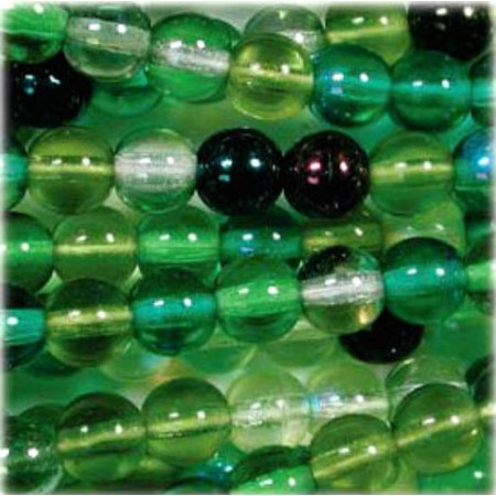 Czech Glass Druk 8mm Round Evergreen Mix (Evergreen Mix)
