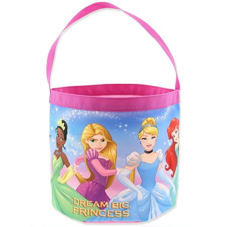 Disney Princess Girls Collapsible Nylon Beach Bucket Toy Storage Gift Tote Bag B19PN42148](Personalized Disney Princess Gifts)