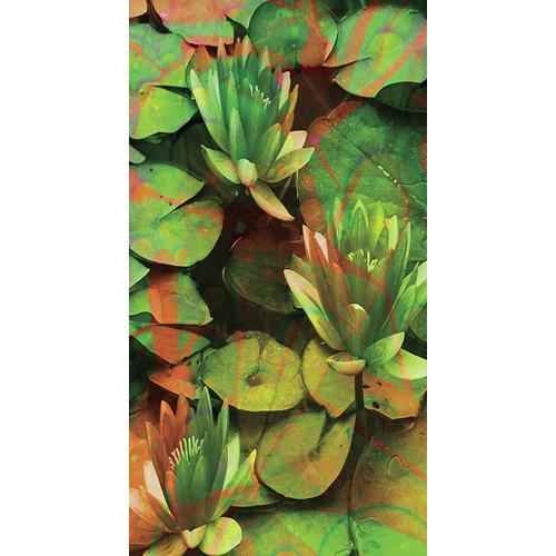 No Slip Mat by Versatraction Kahuna Grip Water Lillies Shower Mat