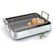 "Paderno World Cuisine Aluminum Roasting Pan Non-stick 15 3/4, 20"", A4694740"