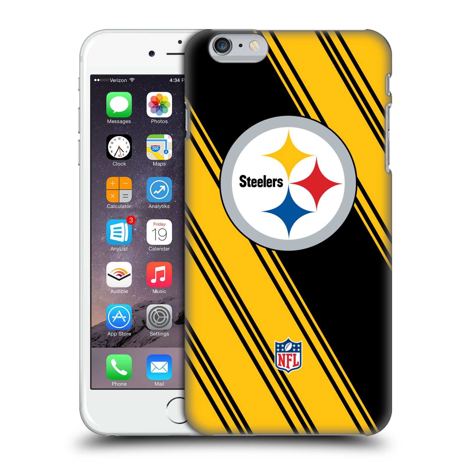OFFICIAL NFL 2017/18 PITTSBURGH STEELERS HARD BACK CASE FOR APPLE IPHONE PHONES