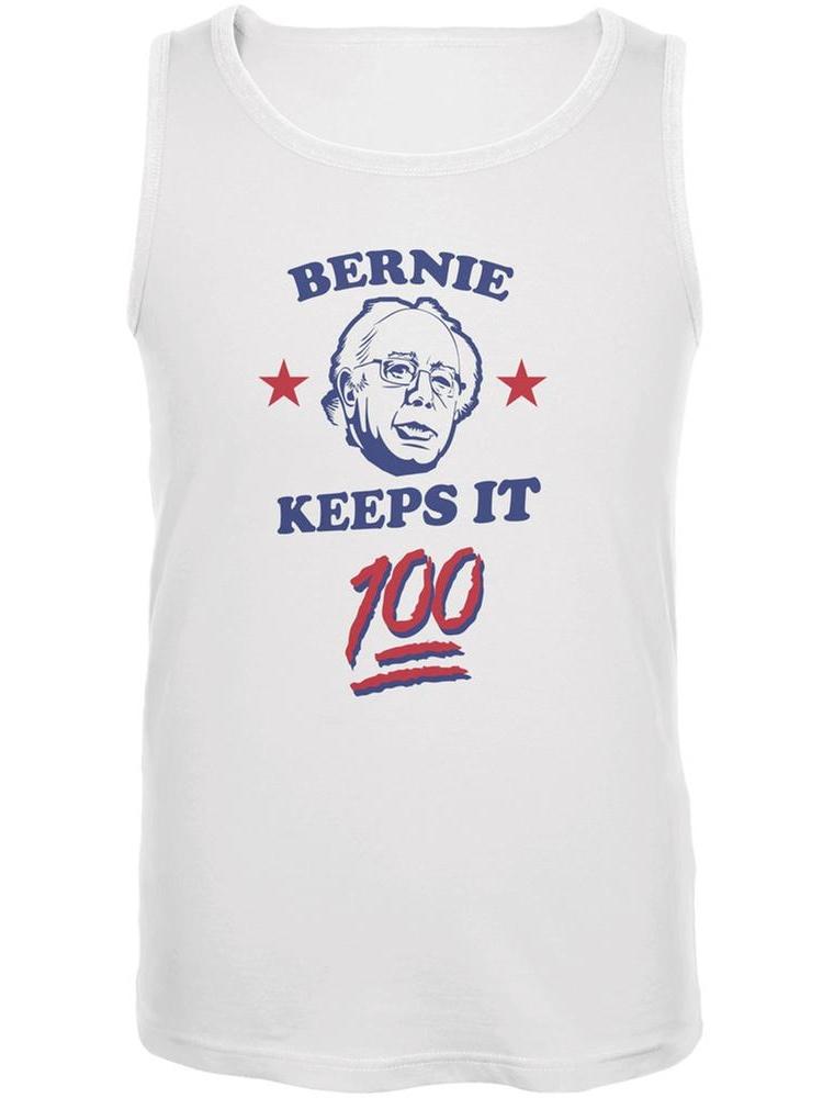 Election 2016 Bernie Sanders Keeps It 100 White Adult Tank Top