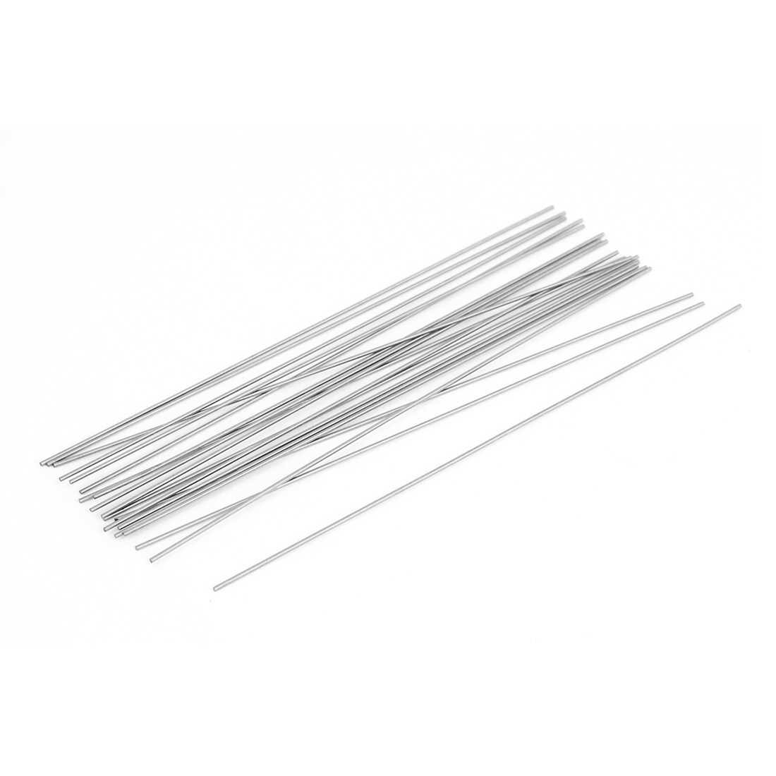 20 Pcs 100mmx0.7mm Steel Turning Tool Lathe Bars Round Stock Silver Tone by