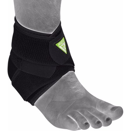 Rdx Ankle Support Foot Strap Bandage Protector Fitness Wrap Guard Black