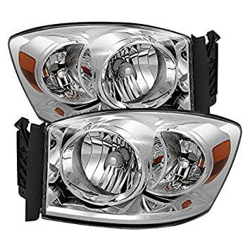 Dodge Ram 1500 / Ram 2500/3500 Amber Crystal Headlights Chrome Housing With Clear Lens ()