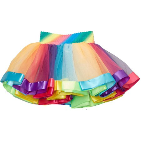 Wenchoice Rainbow Stripe Tutu Girl's - Party City Rainbow Tutu