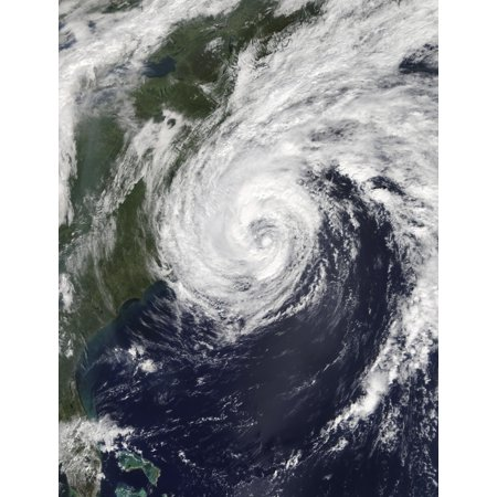 Hurricane Jose off the United States East Coast Poster Print by Stocktrek