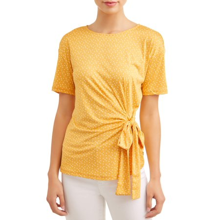 Cable Womens Tie (Women's Short Sleeve Side Tie T-Shirt )