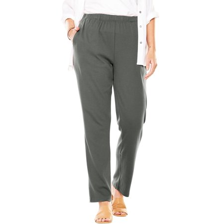 Woman Within Plus Size Petite 7-day Knit Straight Leg Pant ()