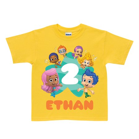 Personalized Bubble Guppies Birthday Yellow T-Shirt](Bubble Guppies Birthday)