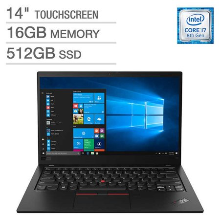 "Lenovo X1 Carbon 7th Generation Ultrabook: Core i7-8565U, 16GB RAM, 512GB SSD, 14"" Full HD Touch Display"