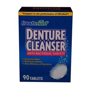 Freshmint Denture Cleanser Tablets Mint, Box of 90