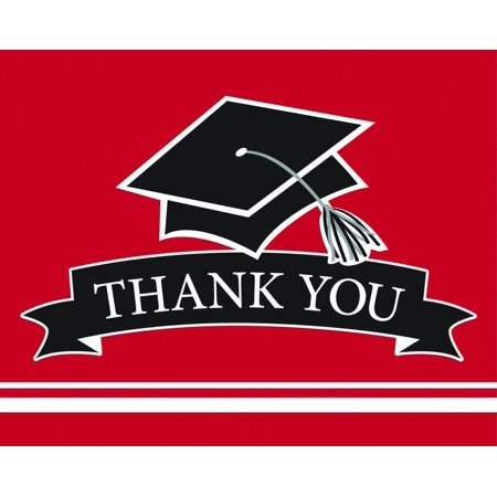 Creative Converting Graduation School Spirit Red Thank You Notes, 25 ct](Graduation Ideas For High School)