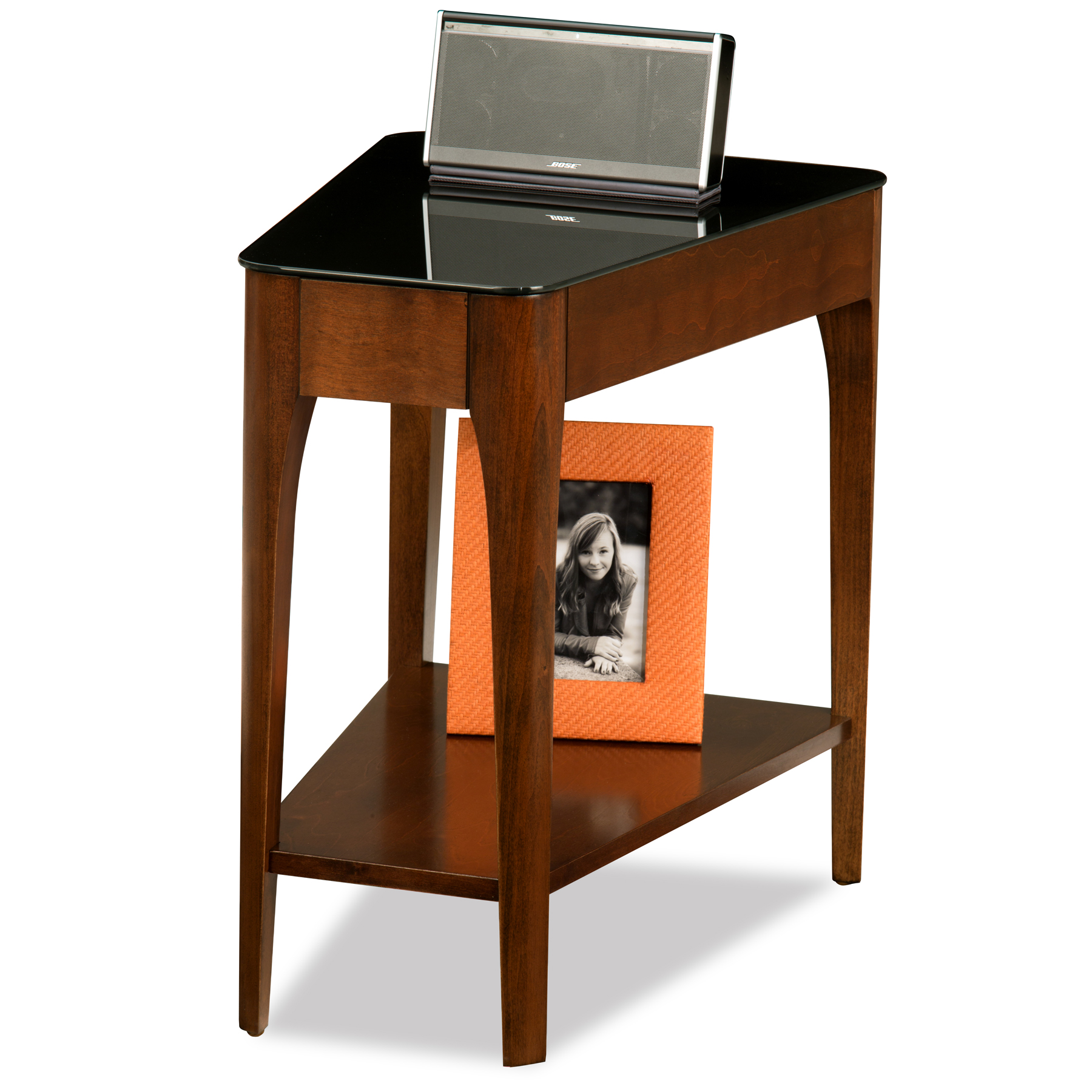 Leick Obsidian Recliner Wedge Table