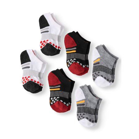Athletic Works Boys' No Show Socks, 6 pack