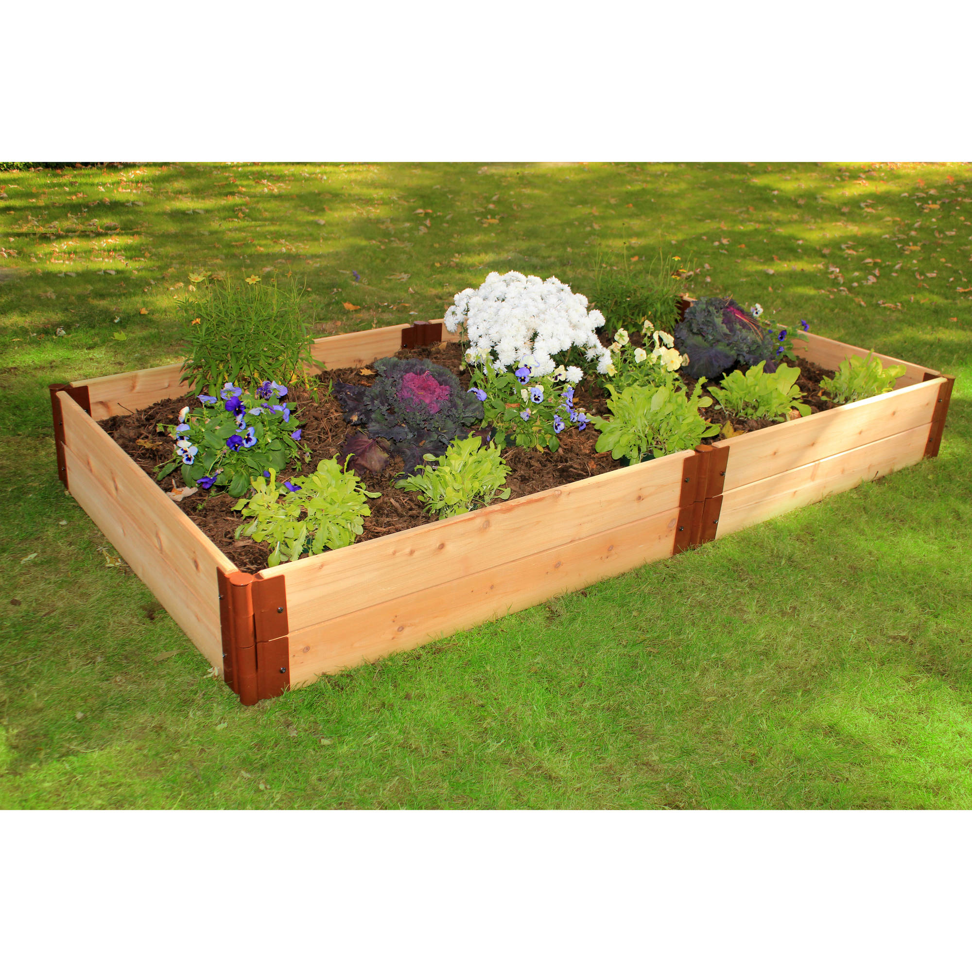 Frame It All 1-inch Series Cedar Raised Garden Bed Kit - 4ft. x 8ft. x 12in.