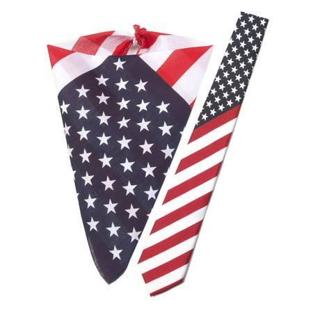USA Patriotic Kit - Bandana and USA Necktie - image 1 de 1