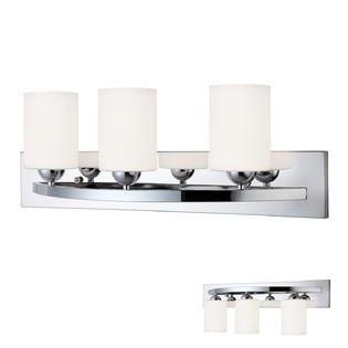 Chrome 3 Bulb Bath Vanity Light Bar Fixture Interior Lighting ()