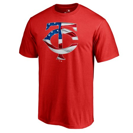 - Minnesota Twins Fanatics Branded 2019 Stars & Stripes Big & Tall Primary Logo Banner Wave T-Shirt - Red