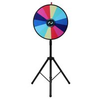 """UBesGoo 24"""" Standing Spinning Prize Wheel with Tripod Stand"""