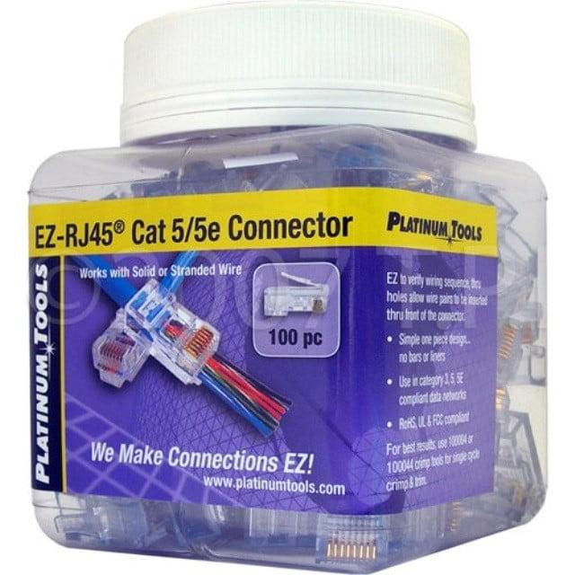 SCP EZ-45 100 EZ-RJ45 CAT5E Crimp Plugs,