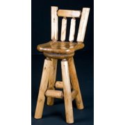 Bar Stool with Saddle Seat (Clear)