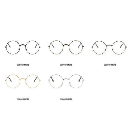 Fashion Plain Glasses Frame Round Metal Frame Optical Eyeglasses Frame - image 6 of 6