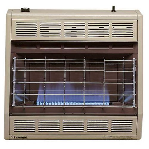 Empire Vent-Free Blue Flame Heater Natural Gas 30000 BTU, Thermostatic Control