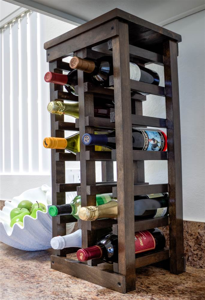 26 in. Classic Wood Wine RackClassic Wood Wine Rack by Leslie Dame