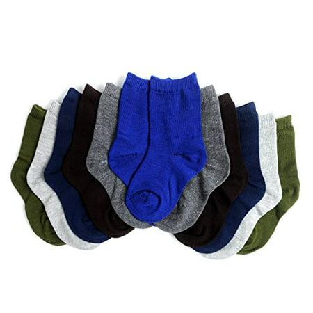 12pk of Solid Children's Socks