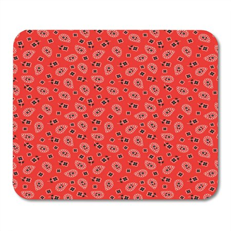 Americana Computer - KDAGR Paisley Bright Red Bandana Pattern Americana Western Cowgirl Cowboy Mousepad Mouse Pad Mouse Mat 9x10 inch
