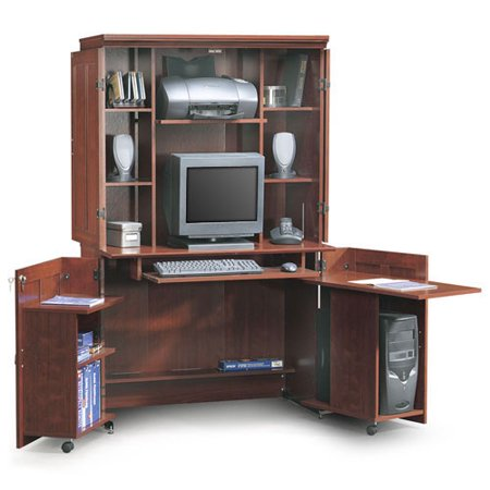 sauder computer armoire. Black Bedroom Furniture Sets. Home Design Ideas