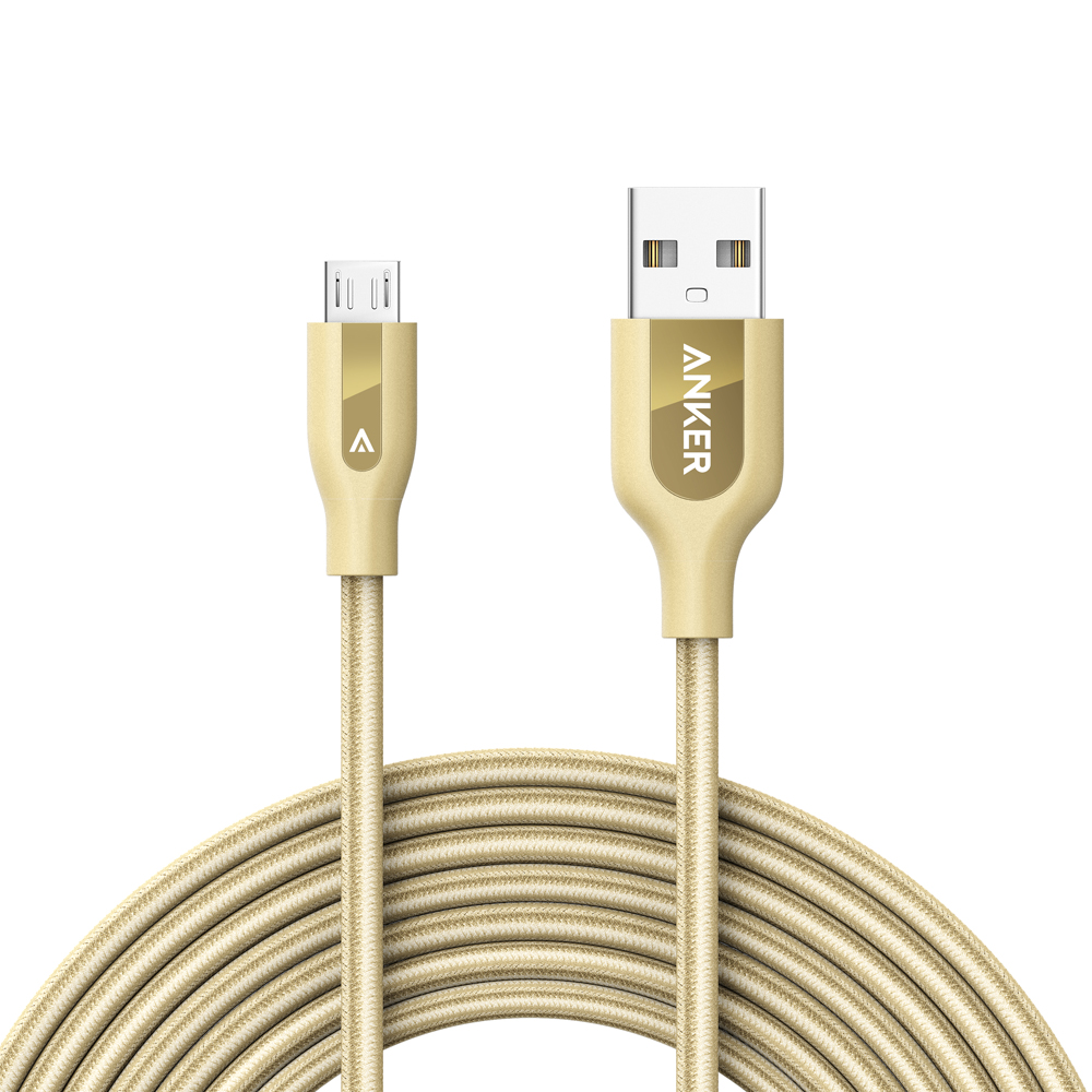 Anker PowerLine+ Micro USB (10ft) The Premium, Fastest, Most Durable Cable [Kevlar Fiber & Double Braided Nylon] for Samsung, Nexus, LG, Motorola, Android Smartphones and More