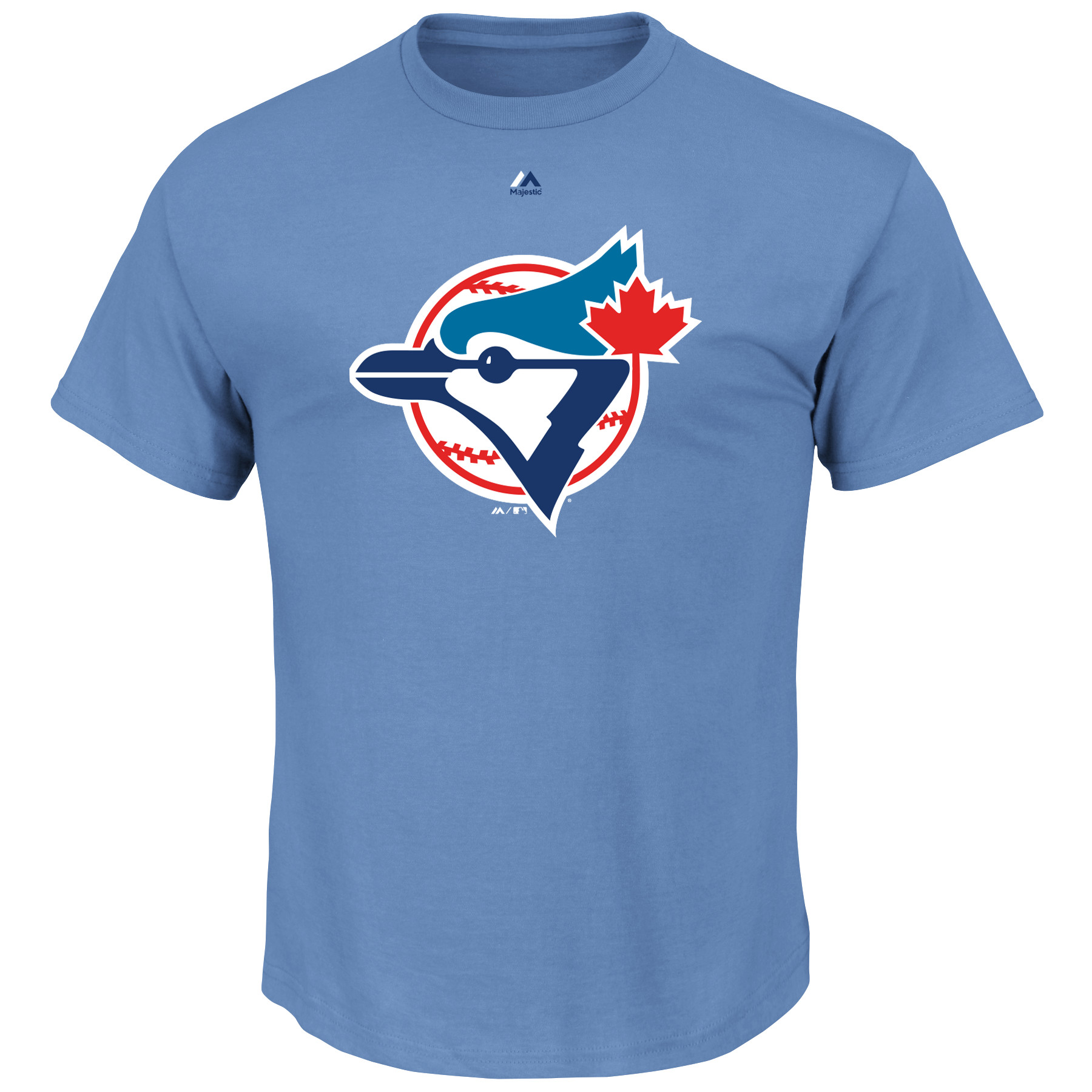 Toronto Blue Jays Majestic Cooperstown Logo T-Shirt - Light Blue
