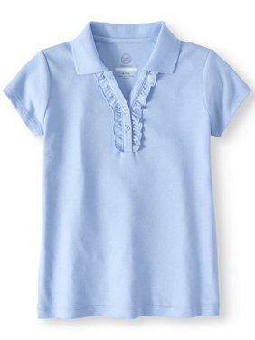 f22fc1ca2fb Product Image Girls School Uniform Short Sleeve Ruffle Polo