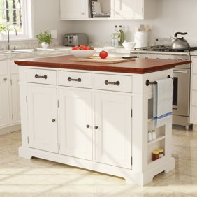 Furniture Barn USA™ Primitive Country Kitchen Island with Barn Door