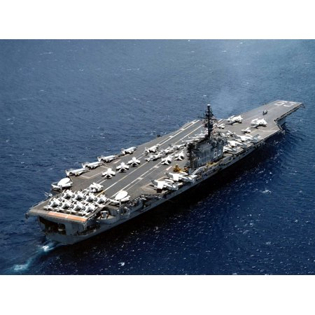 LAMINATED POSTER The U.S. Navy aircraft carrier USS Kitty Hawk (CVA-63) operating off the coast of California (USA), Poster Print 24 x 36