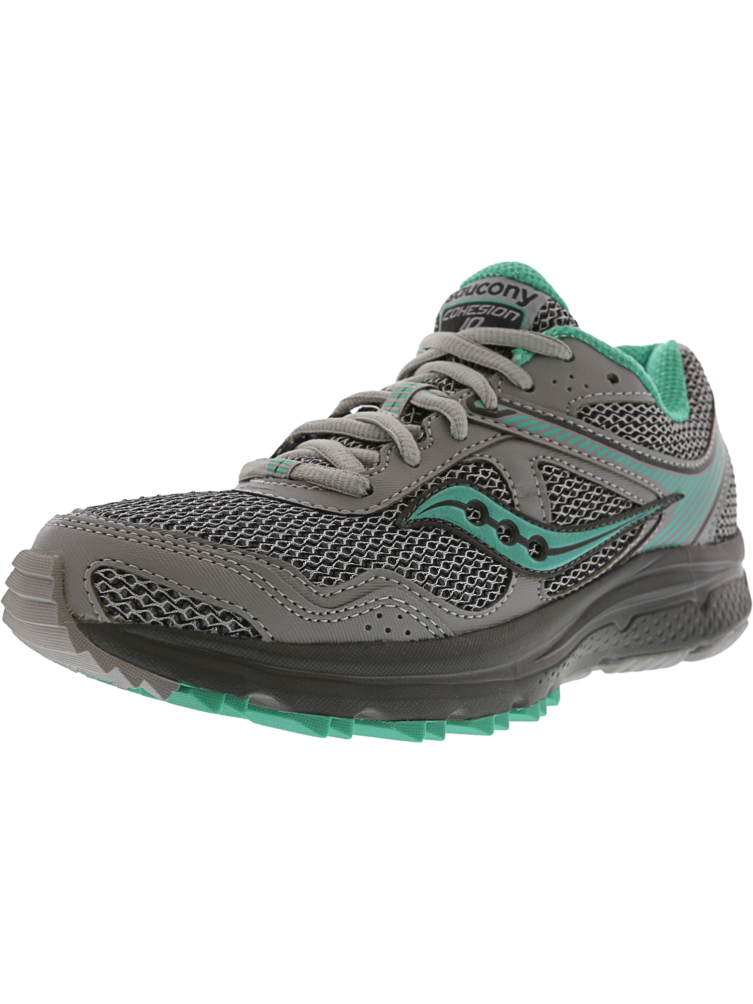 Saucony Women's Grid Cohesion Tr 10 Grey / Mint Ankle-High Trail Runner - 12M