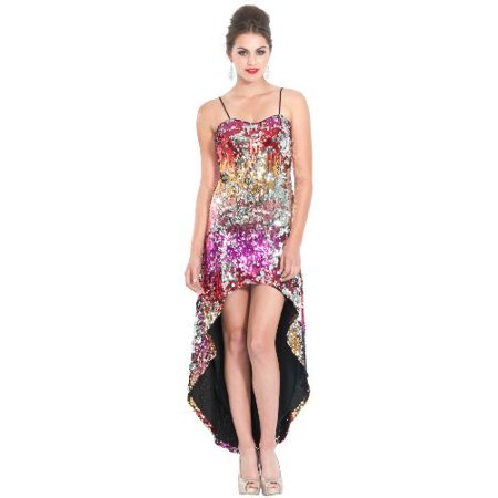 Red Carpet Prom Theme (Sequin High-Low Red Carpet Prom Dress, Small,)