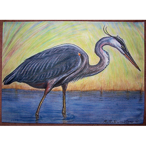 Betsy Drake Interiors Great Heron Placemat (Set of 4)