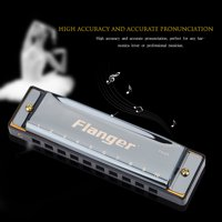 Ejoyous 10 Holes C Key Harmonica Mouth Organ Blues Musical Instrument Gift for Beginner Professionals, Folk Harmonica, Mouth Organ