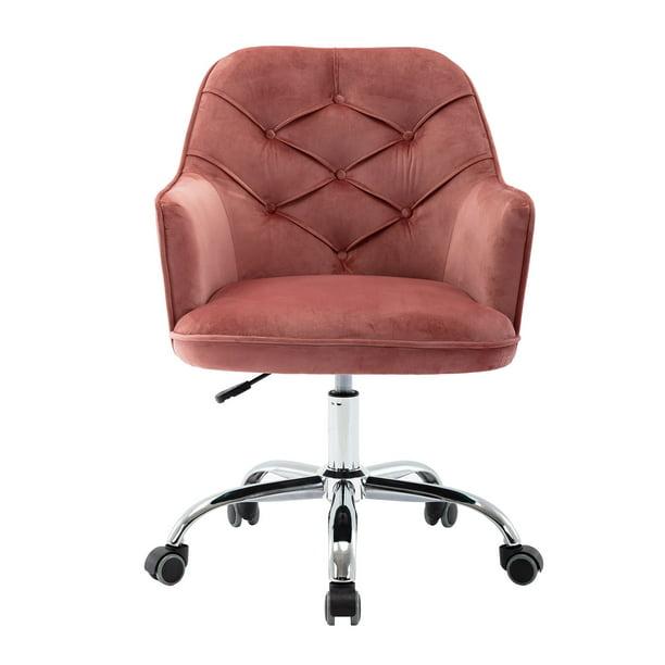 Velvet Swivel Shell Chair For Living Room Modern Leisure Arm Chair Office Chair Bean Red Walmart Com Walmart Com